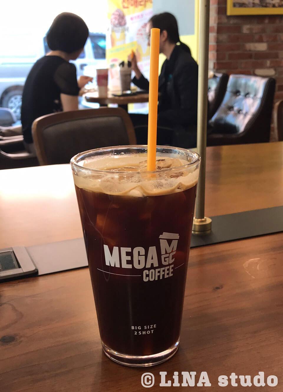 韓国カフェメガコーヒー_アメリカーノ