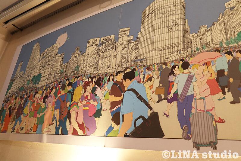 韓国カフェ_Editorial Cafe B_壁掛け絵画
