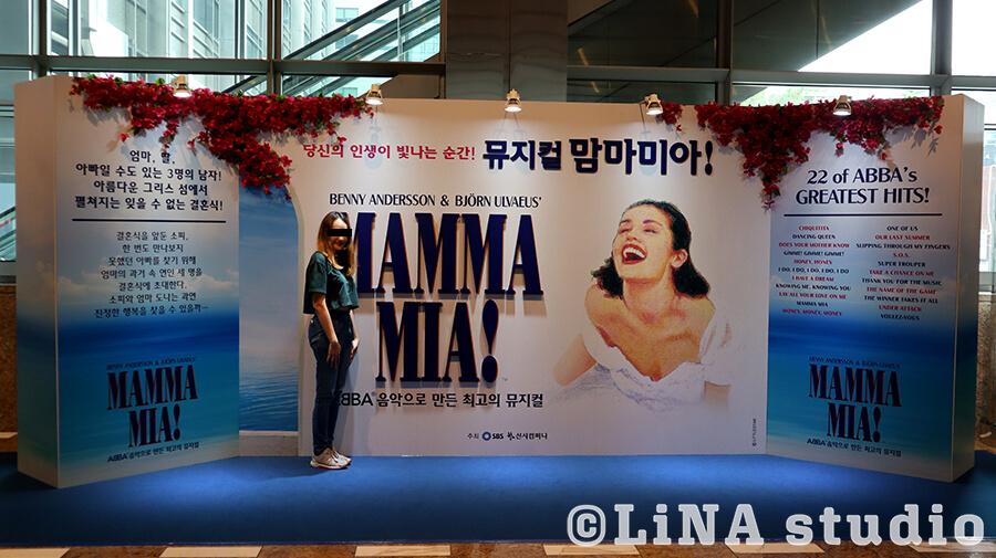 マンマミーア韓国公演_看板と私
